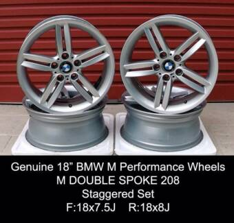 4x Genuine BMW M Double Spoke 208 Performance Wheels RRP $3200 Penrith Penrith Area Preview