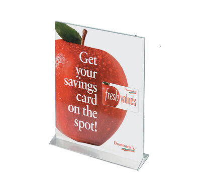 8.5 x 11 Acrylic Sign Holder for Tabletops Top Insert T-style Countertop Clear