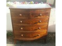 A beautiful Victorian chest of drawers