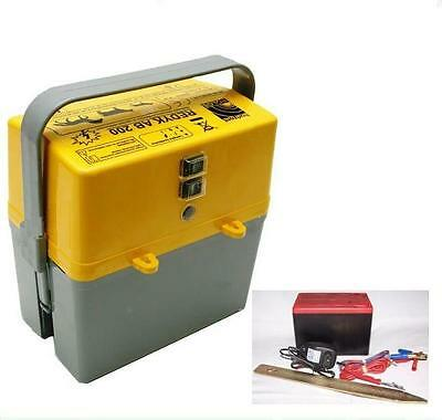 9 V 12 V 230  V  Weidezaungerät 2 Stufenschalter + Batterie