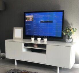 IKEA glossy white TV stand