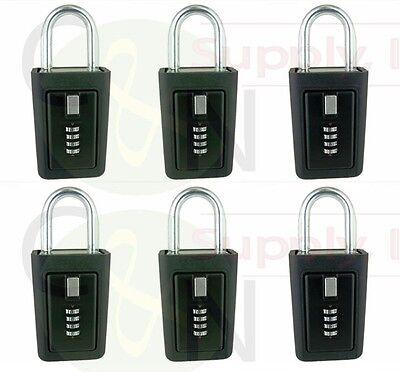 6 Lockboxes Realtor Key Storage Lock Box Real Estate 4 Digit Lockbox