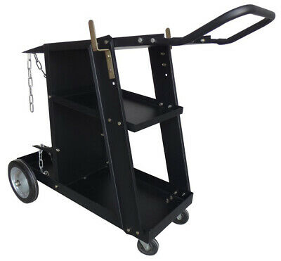 Deluxe Steel V3 Mig Welding Cart For Mig Tig Plasma Machine Fits Welder Tank