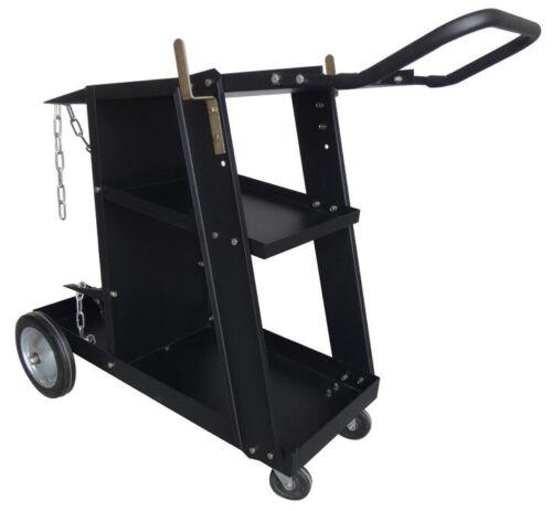 Deluxe Steel V3 Mig Welding Cart for Mig Tig Plasma Machine Fits Welder & Tank
