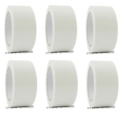 2 X 110 Yd White 6 Rolls Packaging Packing Tape Carton Sealing - Free Shipping