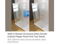 Walk in shower screen and end panel free delivery