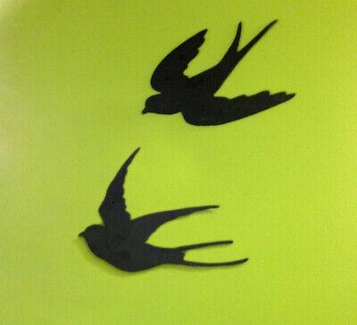 Schwalben - Rauchschwalben, Wand - Deko Schwalben, Vogel Silhouette Terrasse