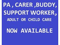 AVAILABLE . childcare , Buddy , Nanny - day or night care . yeovil / sherborne surrounding areas