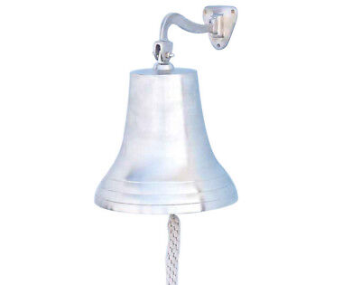 Brushed Nickel Solid Aluminum Ship's Bell 12