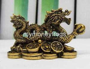Brass-Tone-Oriental-Chinese-Lucky-Dragon-Year-Feng-Shui-Protection-Figurine-DG1