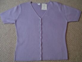 Women's Clothing Mauve Short Sleeve Top Size 14 BNWT