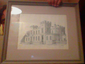 Guelph Court House Litho? Etching? Limited