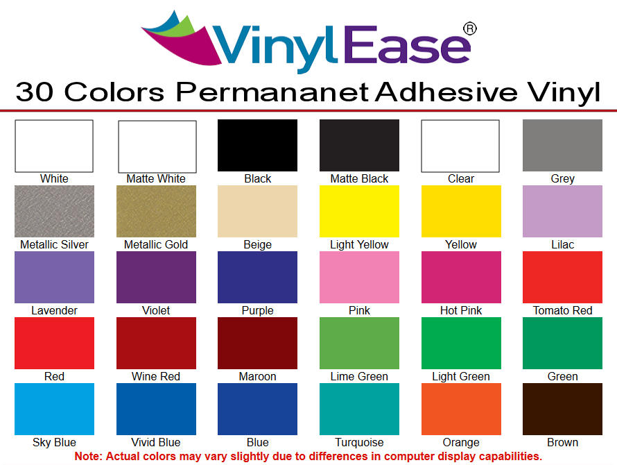 """40 Colors 12/"""" Adhesive Vinyl Craft hobby//sign ,10 Rolls@ 5/' Ea. ,by precision62"""