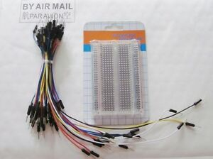 Mini-Universal-Solderless-Breadboard-400-Points-65Pcs-Jumper-Cable-Wire-DIY