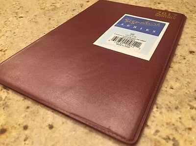 2017 Monthly 5x8 Dated Planner Calendar Appointment Book Burgundy