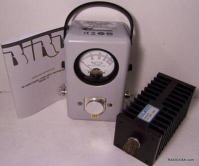 Bird 43 Wattmeter NEW, 100 watt Load, manual, element