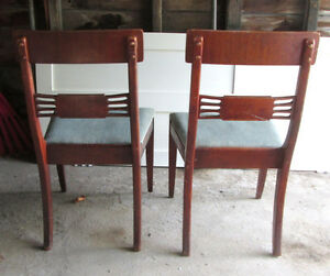 Vintage 1940s Wood Dining Room Chairs Kawartha Lakes Peterborough Area image 3