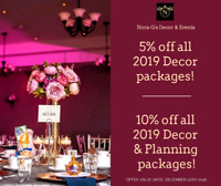 Affordable Event & Wedding Decor - 2019 Booking!