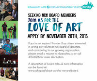 Thunder Bay Arts Organization seeking New Board Members