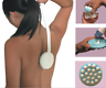 Long Handle Body Cream Lotion Applicator Back Leg Massager SPA Scrubber Tool