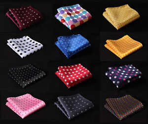 Polka-Dot-Colors-Men-Silk-Satin-Handkerchief-Pocket-Square-Hanky-Wedding-Party