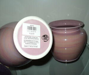 NEW 2 PINK SWIRL DESIGN DECORATIVE VASES HOME DECOR SEARS NWT Cornwall Ontario image 1