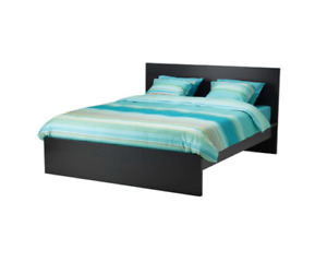 Ikea Black Bed Frame & Mattress