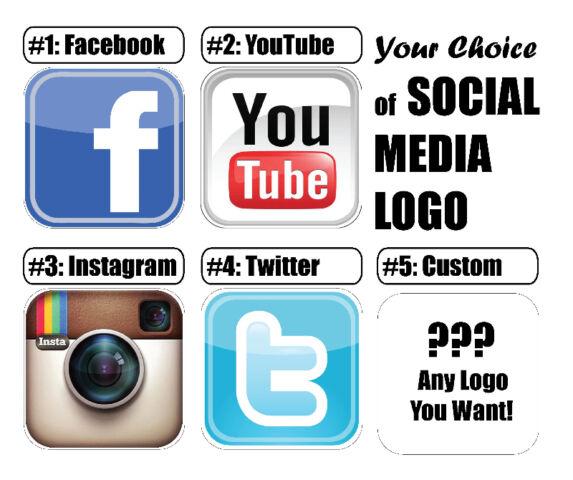 Printed Social Media Logos  Other Custom Printed Vinyl Stickers - Custom vinyl stickers london ontario