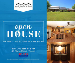 Open House this Sunday, December 16th from 1-3 pm!