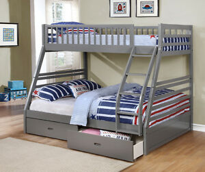 Twin over Full Bunk Bed w/ Storage Drawers! Free Delivery! Edmonton Edmonton Area image 5