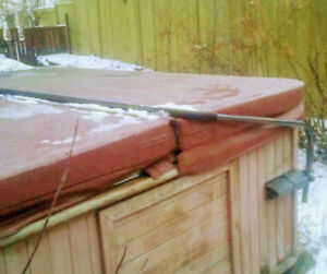 Hot tub cover.