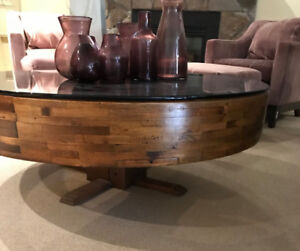 Antique Mill Wheel Coffee Table