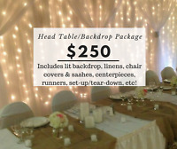 Backdrop and Head Table Promotion