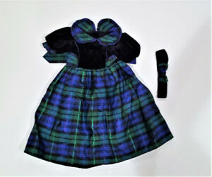 GIRLS TAFFETA & VELVET HOLIDAY DRESS