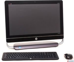 HP envy 23 inch touch screen with all in one PC wireless mouse