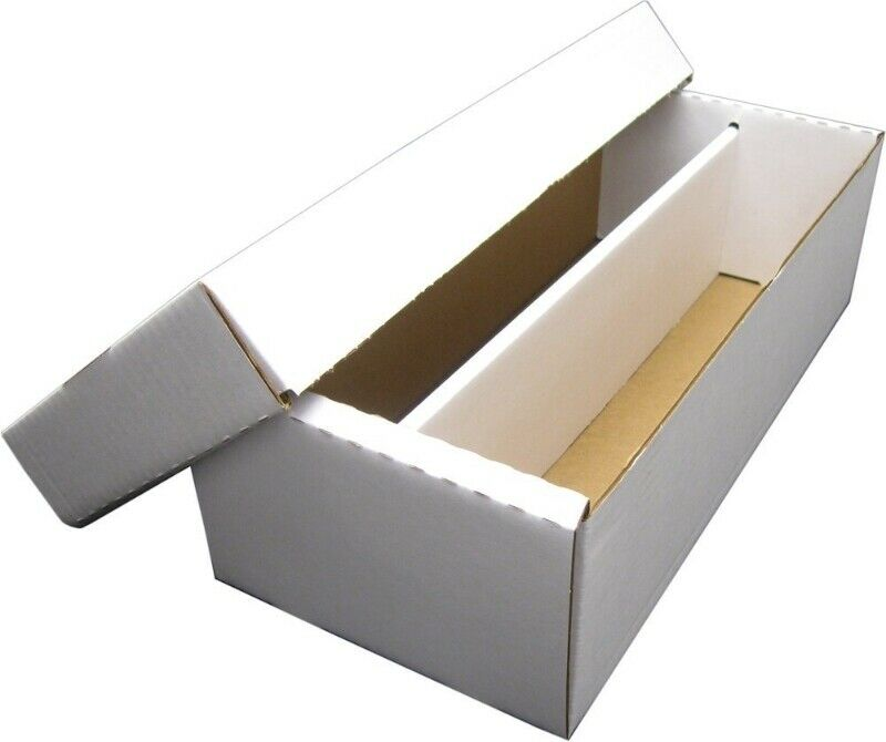 (1) 1600 CT. 2 ROW BASEBALL CARD CARDBOARD STORAGE BOXES for 3X4 TOPLOADERS