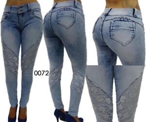 SEXY REAL COLOMBIAN LEVANTA COLA FRANKA SKINNY BUTT LIFTER JEANS