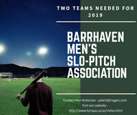 Ottawa, Barrhaven Men's Softball league is looking for Players