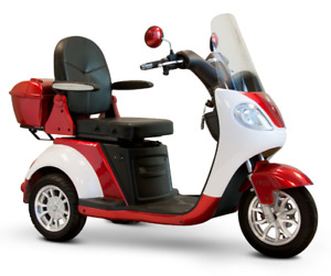 EW-42 Red Electric Mobility 3 Wheel Scooter Luxury 15mph, 45 mi
