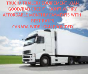 Truck Trailer and Heavy Equipment Loan - Loan Approved!!