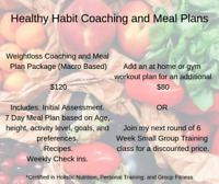 Healthy Habits Weightloss Coaching and Meal Plans