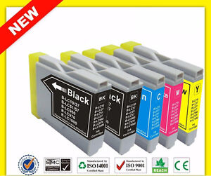 Set 5 cartouches Brother LC51/55 compatible ink toner cartridges