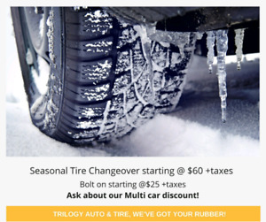 WINTER tires installed $25