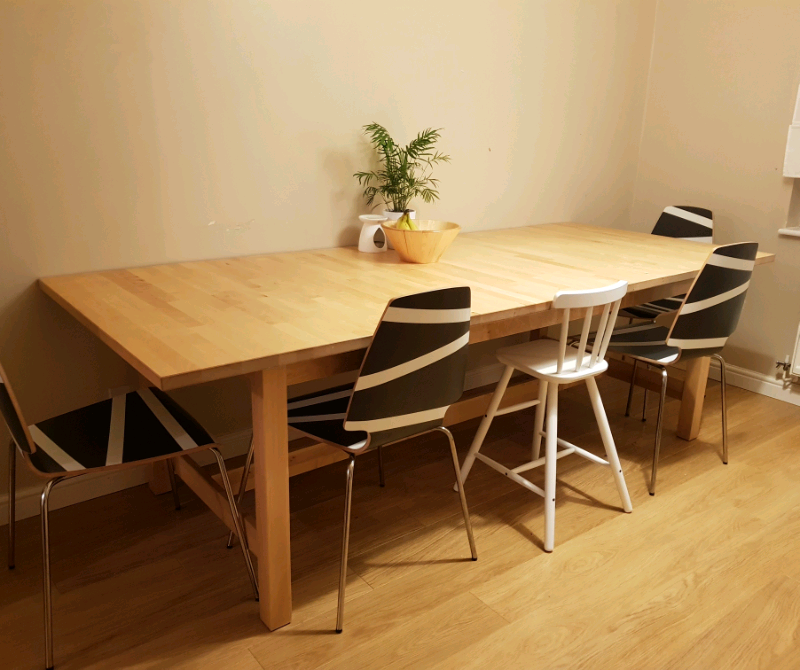 Large Extendable Dining Table (IKEA Norden) Offers Welcome | in Falkirk |  Gumtree
