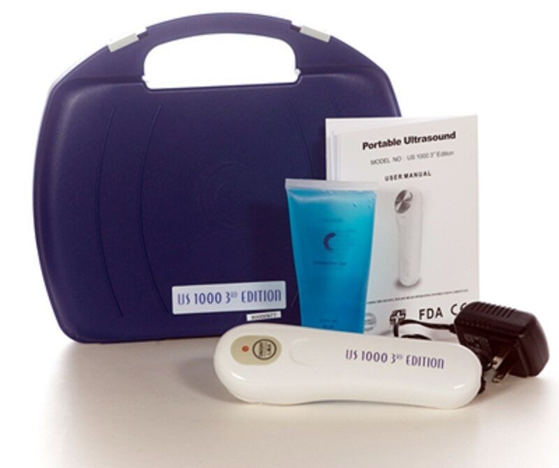Portable Ultrasonic Ultrasound Massager US1000 3rd EDITION with Case