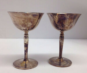 Antique CRESCENT SILVER MFG Goblets (2) Gatineau Ottawa / Gatineau Area image 1
