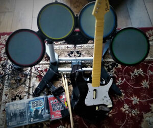 PS3 Beatles Rock Band with Guitar, Drum Kit, Microphone