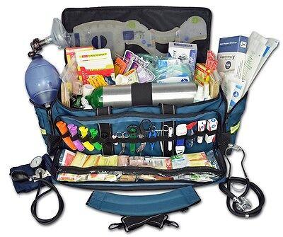 Medical Responder Supplies Kit Deluxe First Aid Trauma Emt Bag Oxygen Tank Ems 1