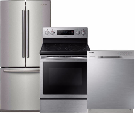samsung frigidaire fridge stove dishwasher package