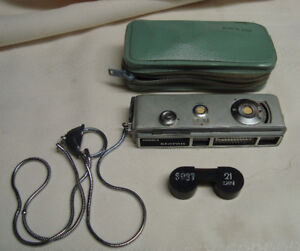 Yashica Atoron mini spy cam with accessories